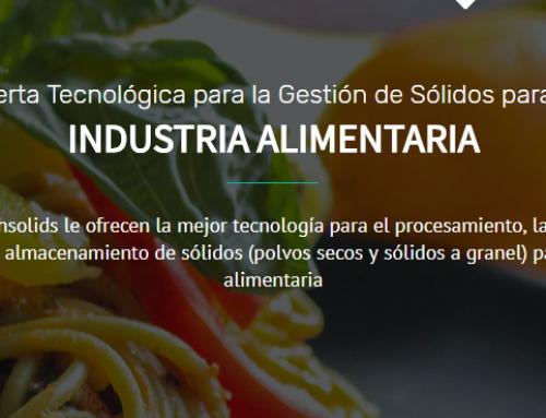 Nueva sección web de Techsolids: oferta de tecnología de sólidos dirigida a la  la Industria alimentaria