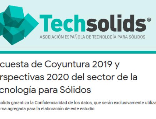 Responde a la Encuesta de Coyuntura 2019 y Perspectivas 2020 del sector de la Tecnología para Sólidos