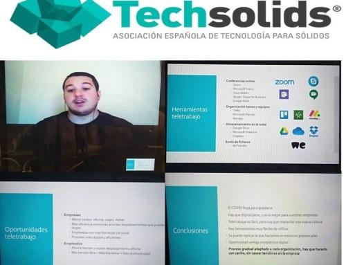 """2DO WEBINAR TECHSOLIDS: sobre """"el uso adecuado y la implantación de las aplicaciones que utilizamos en el teletrabajo"""""""