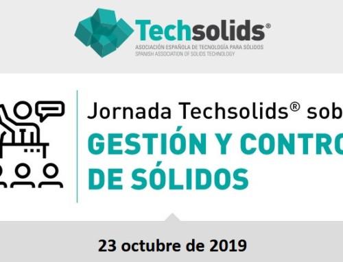 Jornada Techsolids: Gestión y Control de Sólidos, 23 de octubre – Murcia