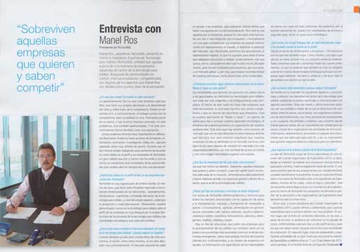 Techsolids en la revista Industria Química