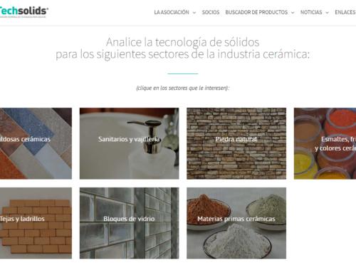 Techsolids presenta su nuevo buscador de productos dirigido en exclusiva al sector cerámico